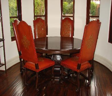 Lorenso Dining red  leather chairs alexander dining table